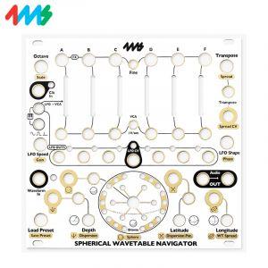 4ms Spherical Wavetable Navigator Faceplate White