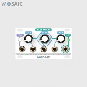 Mosaic Bass Drum White