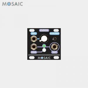 Mosaic Clock Black