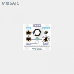 Mosaic Clock White