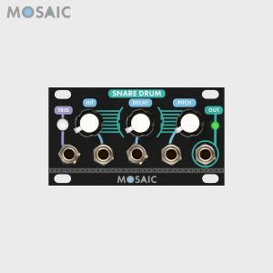 Mosaic Snare Drum Black