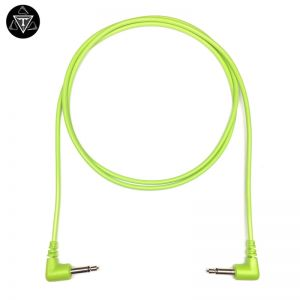 Tendrils Right Angle 90cm 6 Pack Eurorack Patch Cable Lime