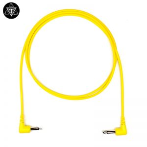 Tendrils Right Angle 90cm 6 Pack Eurorack Patch Cable Yellow