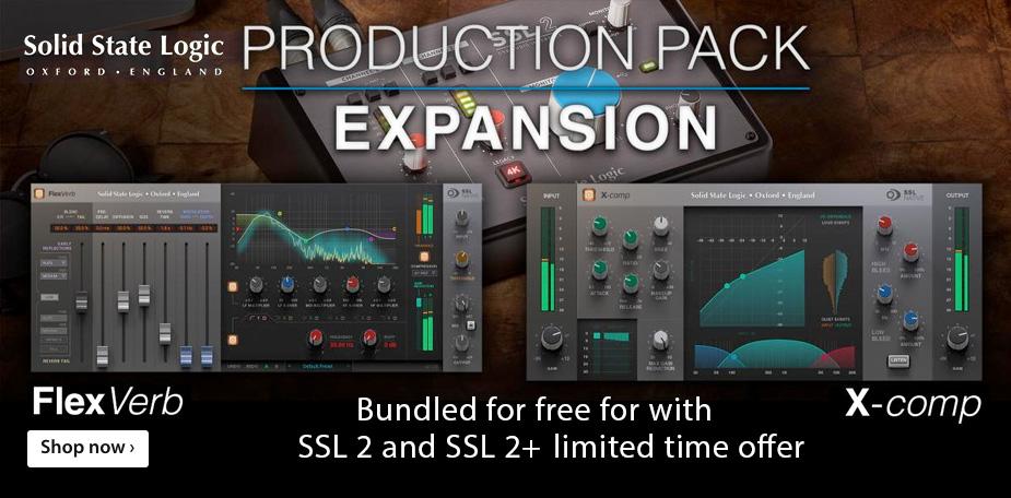 Solid State Logic SSL 2 & SSL 2+ Production Pack Expansion Promotion