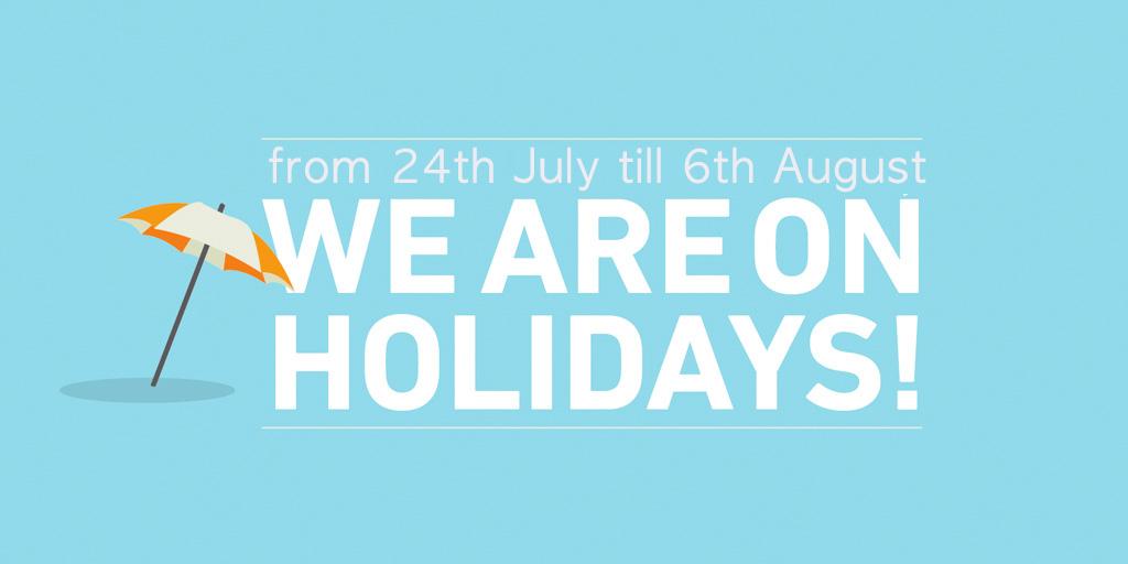 Summer Holiday Closing 2021