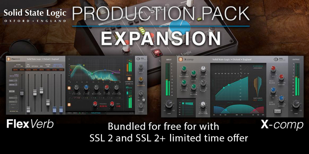 Solid State Logic SSL 2 & SSL 2+ Production Pack Expansion Promotion