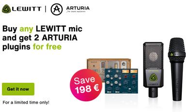 Buy a Lewitt get 2 Arturia Plugins for free